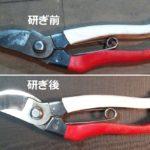 剪定鋏を名古屋「研ぎや大須」にて研ぎ直し