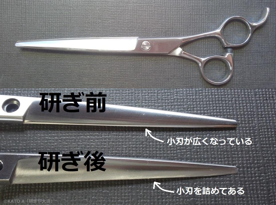 トリミングシザーを名古屋「研ぎや大須」にて研ぎ直し。