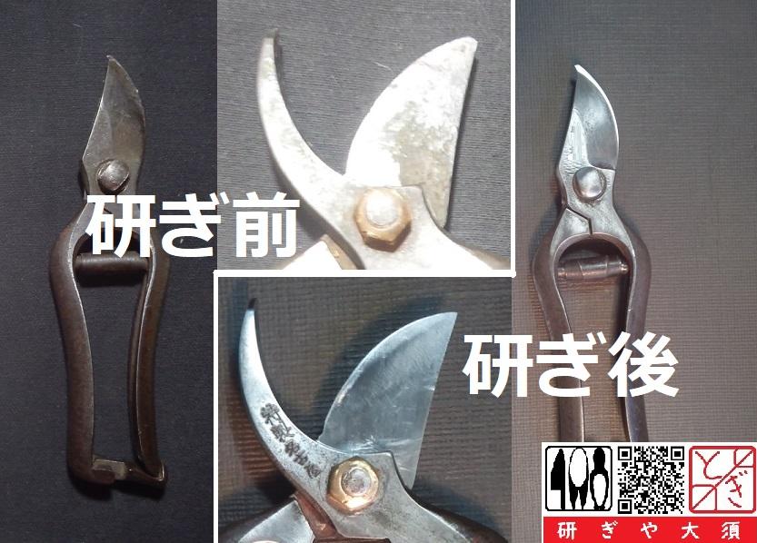 剪定鋏を名古屋「研ぎや大須」にて研ぎ直し。